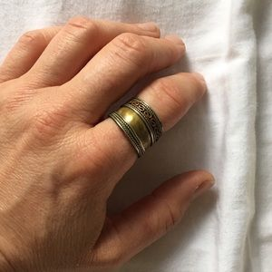 Copper, Brass & Silver Vintage Adjustable Ring