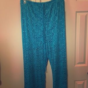 Lucky Jade Pants - Crochet pants with shorts underneath