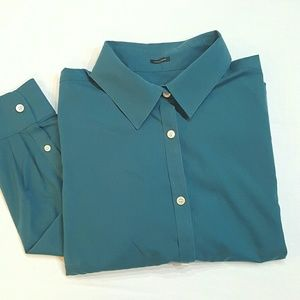 Talbots Tops - Talbots Teal button down
