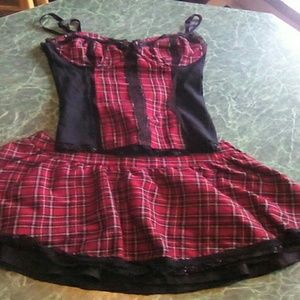 lip service Tops - Lip Service Corset Skirt Set Tartan Plaid Tripp