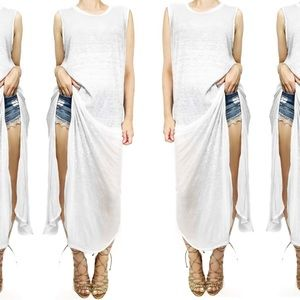 Free People Dresses & Skirts - Free people we the free white sheer maxi tank