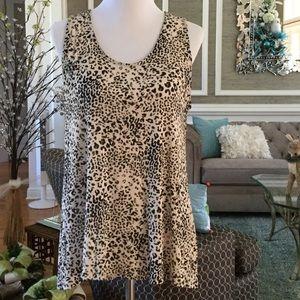 Tops - REDUCED AGAIN ❗️Animal print sleeveless Tunic