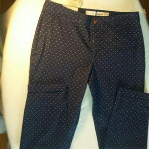Maison Jules Pants - Maison Jules polka dot Lou Lou Pants Blue Motte