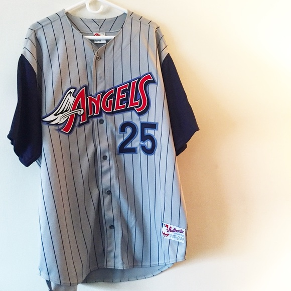 uk availability 28341 b51df Anaheim Angels Troy Glaus Throwback Jersey.