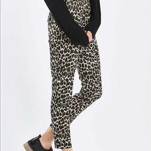 TOPSHOP Jacquard Print Trousers