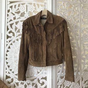 Authentic Original Vintage Style Jackets & Blazers - vintage | suede fringe jacket