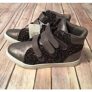 Stevies Other - Stevies Metallic Pewter Glitter High Tops Size 5