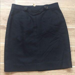 kate spade Dresses & Skirts - Kate Spade Black Alexandra Skirt w/chain NWT