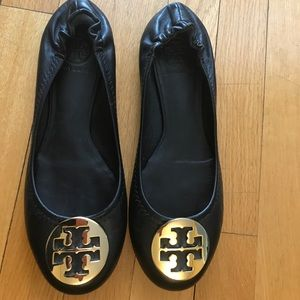Tory Burch black with gold buckle