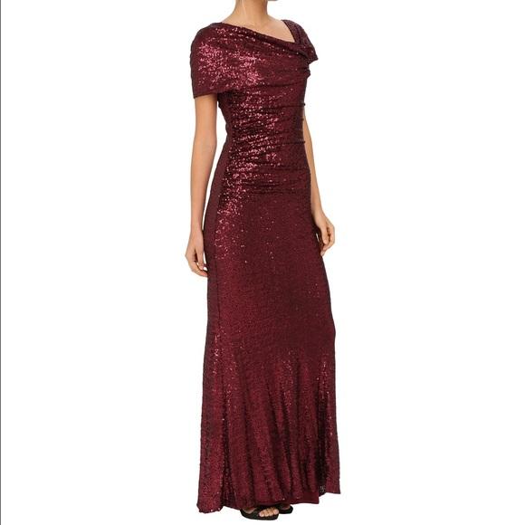 Badgley Mischka Dresses | Sale Off The Shoulder Gown | Poshmark
