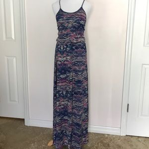 Dresses & Skirts - Multicolor Maxi Dress with cinched waist