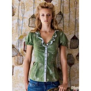 Anthropologie Tops - Anthropologie Odille bit-o-luck butterfly  blouse