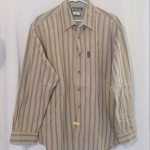 COLUMBIA Long Sleeve Striped Button Down Shirt