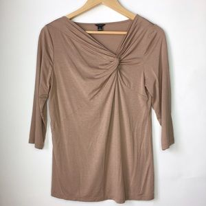 Ann Taylor Tops - Ann Taylor 3/4 Brown Blouse Size M