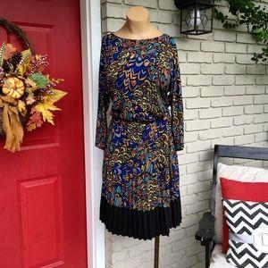 London Times Dresses & Skirts - London Times peacock pleated dress