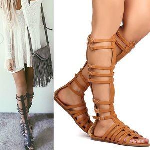 LASTSAVANNAH hello spring sandals - TAN