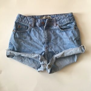 Topshop Pants - High Waisted Jean Shorts