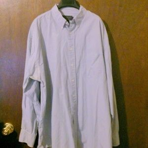 ABERCROMBIE & FITCH Blue Striped Men's Dress Shirt