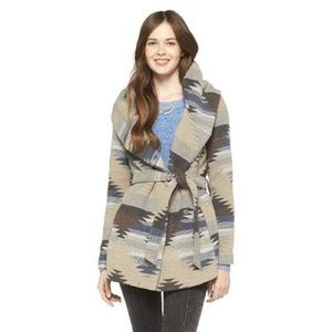 Mossimo Supply Co. Jackets & Blazers - Printed Hooded Slouch Mossimo Fall Jacket