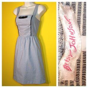 Betsey Johnson tuxedo Dress w pockets, Size 4 / S