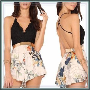 Pants - NWT Paradise Lost Lace Bodice Romper