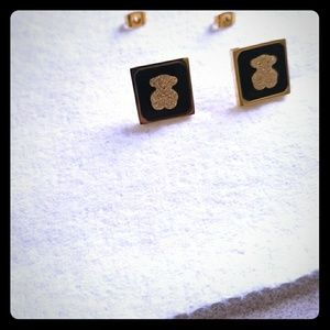 Tous Jewelry - Tous black and gold earrings