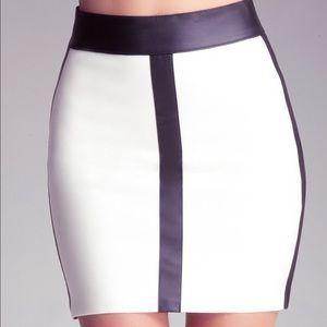 bebe Dresses & Skirts - BeBe Color Block Mini Skirt