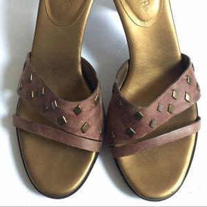 Unisa soft leather slide heels