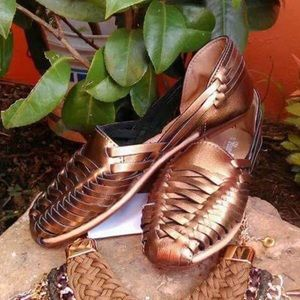 New Arrivals! Leather Sandals Handcrafted Gold