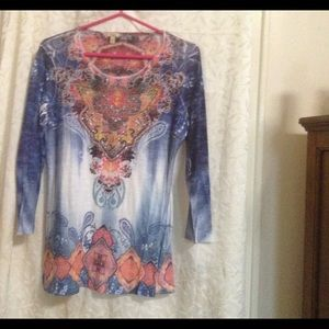 Reba Multicolor Embellished Tunic L XC