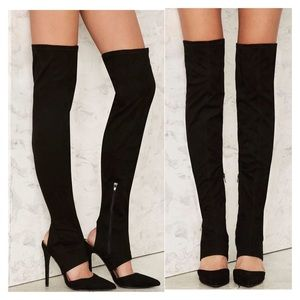NASTY GAL HOT ON MY HEELS OVER THE KNEE BOOTS BOOT