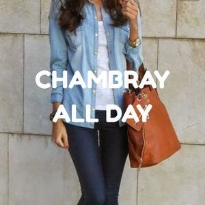TROUVE Chambray Shirt Small