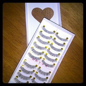 Other - handmade false eyelashes long section cross