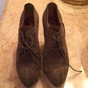 Lanvin Shoes - Brown Suede Lanvin Booties