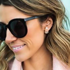 Ily Couture Jewelry - Dual Pearl + Gold Stud Earrings