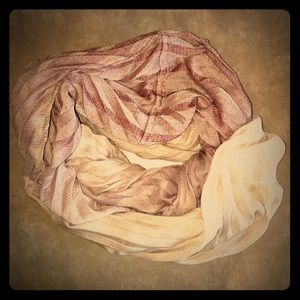 Collection XIIX Accessories - Cream/Mauve Infinity Scarf