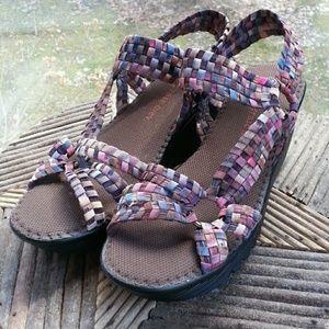 bernie mev. Shoes - Bernie Mev Crystal Wedge Sandal