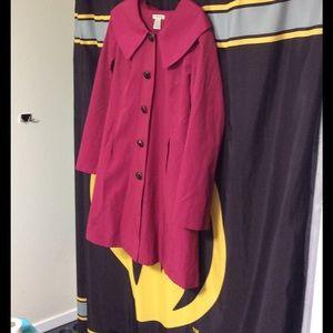 Vertigo Paris Jackets & Blazers - Adorable Fuchsia Colored Jacket in a Size Large.