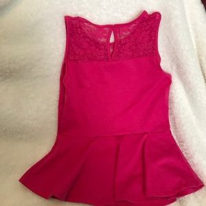 Tops - Pink peplum top