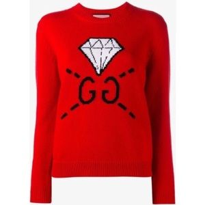 Gucci diamond wool knit