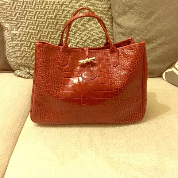 Longchamp Handbags - Longchamp Bag- Roseau croc ONE DAY SALE 1617d10b5b87b