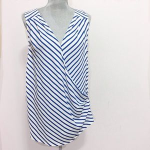 ModCloth Tops - ModCloth blue and white sleeveless blouse