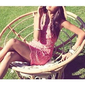Southern Girl Fashion Dresses & Skirts - FLORAL DRESS Crochet Sunflower Eyelet Fitted Mini