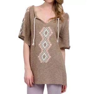 Southern Girl Fashion Tops - ETHNIC TUNIC Short Sleeve Sweater Boho Mini Dress