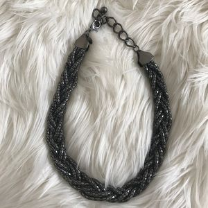 Black metallic necklace