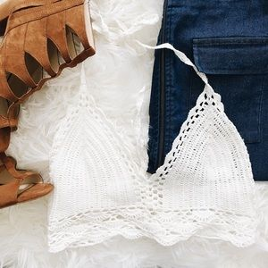 WINDSOR Tops - Windsor Crochet Halter Top