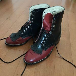 Laredo Shoes - Vintage Lace-up boots Laredo, black/red