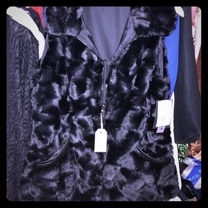 Gallery Jackets & Blazers - Gallery NWT brushed mink vest