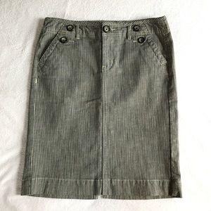 GAP limited edition stripe denim skirt.