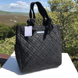 Calvin Klein Handbags - Calvin Klein Black Quilted Tote New NWT